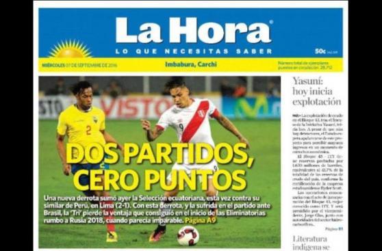 Selección: ¿Qué dijo prensa ecuatoriana de la victoria de Perú?