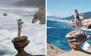 Malos turistas: visitantes derribaron famosa roca en Oregon
