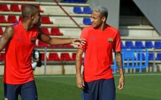 Neymar volvió a entrenar en el Barcelona 110 días después