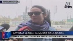 Ricky Tosso: artistas llegan al velatorio del actor [VIDEO]