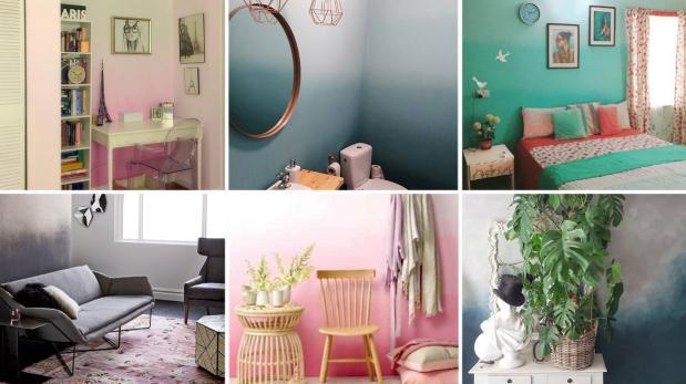DIY: Dale vida a tus habitaciones con una pared en degradé