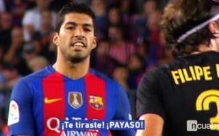 "Suárez a Filipe luego de dura falta: ""Te tiraste, payaso"""