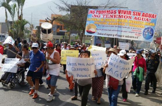 Chosica: vecinos protestan por falta de agua desde hace 8 meses