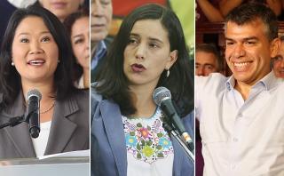 GFK: Keiko, Mendoza y Guzmán, entre los líderes más aprobados