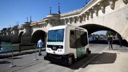 Prueban en París un minibús sin conductor