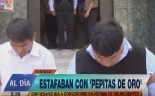 Chosica: dos sujetos estafaban con la venta de 'pepitas de oro'