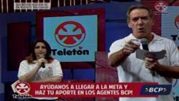 Eddie Fleischman se mostró fastidiado en la Teletón [VIDEO]