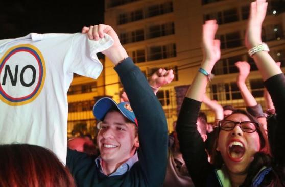 Así celebran los colombianos que rechazaron el acuerdo de paz