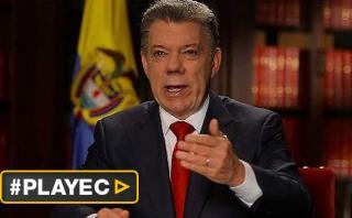 """Santos: """"No me rendiré, seguiré buscando la paz en Colombia"""""""
