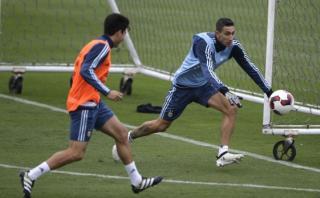 Selección argentina entrenó en el Gallardo con todo su plantel