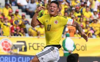 James Rodríguez: se confirmó lesión y no jugará ante Paraguay