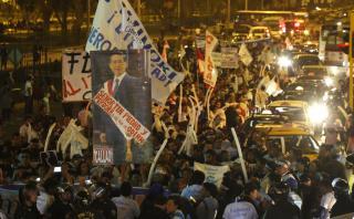Simpatizantes de Alberto Fujimori marcharon por centro de Lima