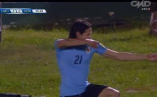 Uruguay: Edinson Cavani sorprendió a Venezuela con este gol