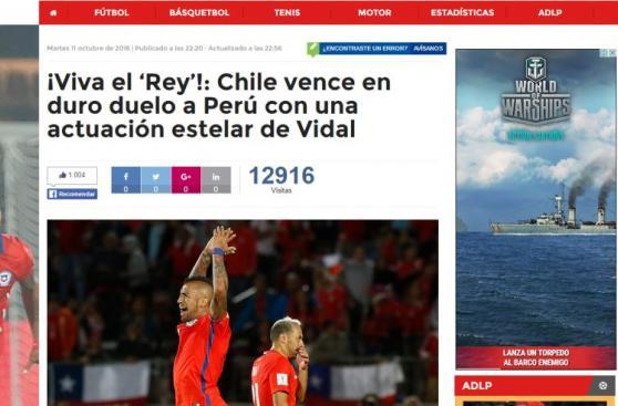 Selección: ¿Qué dijo la prensa chilena del triunfo ante Perú?
