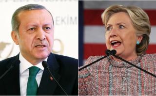 "Erdogan llama ""novata política"" a Hillary Clinton"