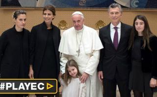 """Macri: """"El papa Francisco me miró y me dijo fuerza y adelante"""""""