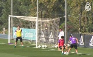 James Rodríguez: 'elástica', 'túnel' y golazo en entrenamientos