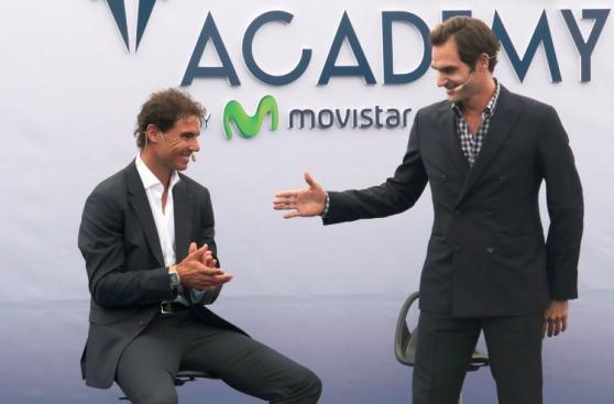 Nadal se divirtió con Federer en la inauguración de su academia