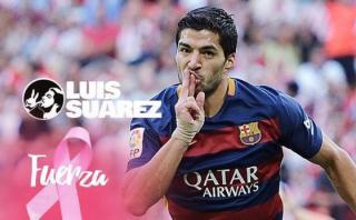 Barcelona y Suárez se unen a campaña contra el cáncer de mama