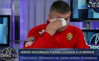 El conmovedor mensaje de comandante tras muerte de bomberos