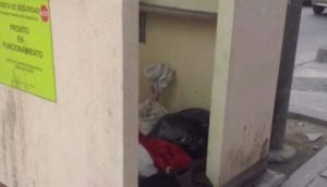 Ate: caseta de seguridad es utilizada como almacén hace años