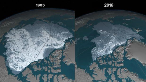 YouTube: así desaparece el hielo más antiguo del Ártico