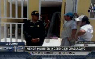 Chosica: niño con retardo murió en incendio en su vivienda