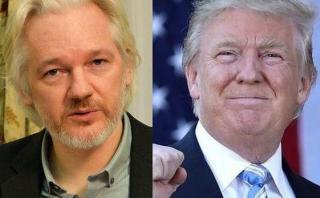 """Assange: """"A Donald Trump no le dejarán ganar la presidencia"""""""