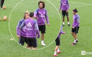 Real Madrid: James se molestó con Modric por una dura entrada