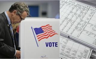 Así es la cédula de votación de las elecciones en EE.UU.