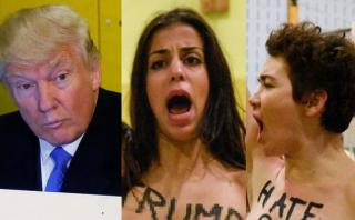Irrumpieron casi desnudas en local de votación de Trump [VIDEO]