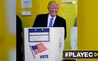 Trump votó a las 11 a.m.: ¿Qué dijo y cómo se vio? [VIDEO]
