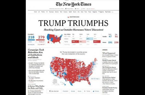 Así informaron los medios del mundo la victoria de Donald Trump