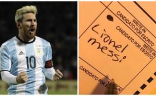 Messi: 'votaron' por el crack en elecciones de Estados Unidos