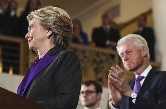 La desazón de Clinton al aceptar la derrota frente a Trump