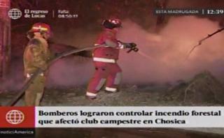 Chosica: Incendio forestal cerca de club alarmó a vecinos