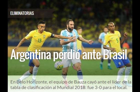 Argentina: la indignación de la prensa por goleada de Brasil