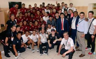 Selección peruana: la celebración en el vestuario tras goleada
