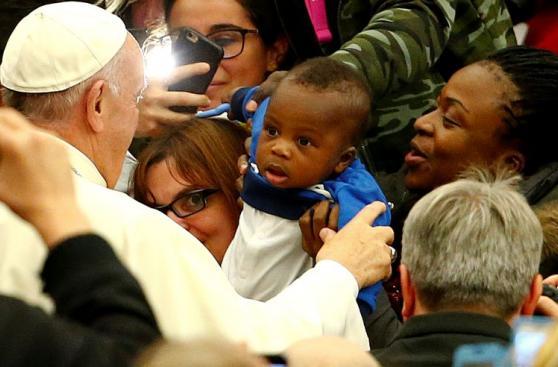 El papa recibió en Roma a indigentes de todas partes de Europa