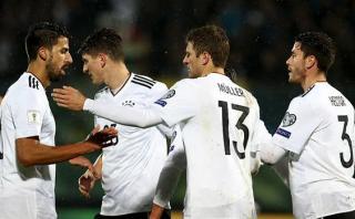 Alemania aplastó 8-0 a San Marino con hat-trick de Gnabry