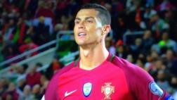 Cristiano Ronaldo erró penal ante Letonia y se molestó [VIDEO]