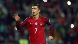 Portugal goleó a Letonia con doblete de Cristiano Ronaldo