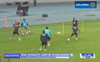 Selección brasileña reconoció la cancha del Estadio Nacional