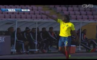 Ecuador: Arturo Mina anotó de cabeza 1-0 ante Venezuela [VIDEO]