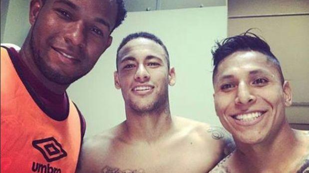 Selección: Raúl Ruidíaz y Cáceda se tomaron foto con Neymar