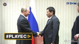 """Duterte se encontró con su """"héroe"""" Vladimir Putin en el APEC"""