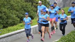 Entérate cómo fue el entrenamiento con el Team Entel Runner