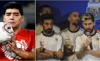 Maradona criticó a jugadores de Argentina y defendió a Lavezzi