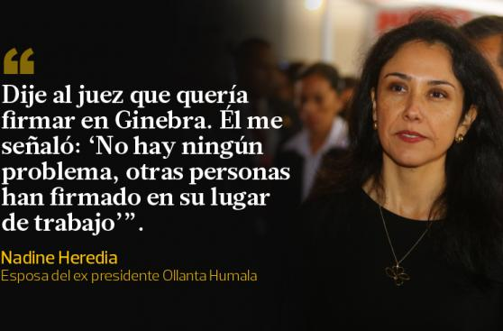 Nadine Heredia: las frases que dejó a su retorno al Perú