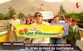 Chosica: vecinos protestan por ubicación de nuevo by-pass
